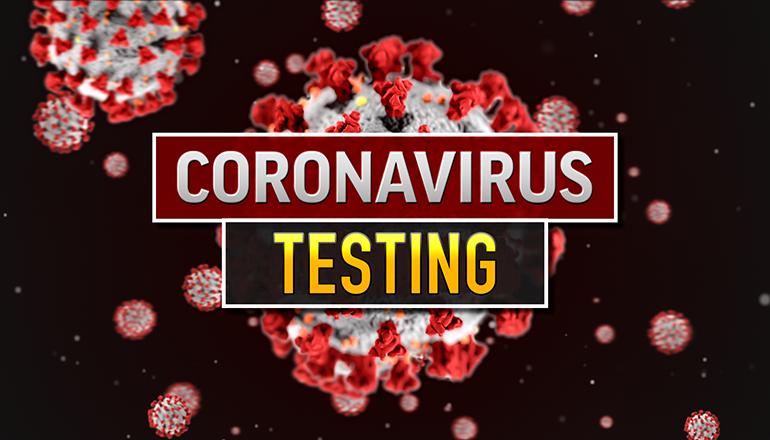 COVID-19 or Coronavirus Testing graphic