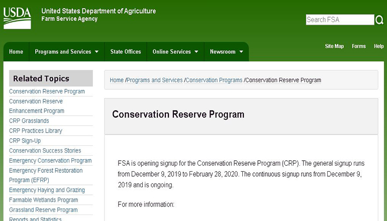 CRP Website Revised (Conservation Reserve Program website)