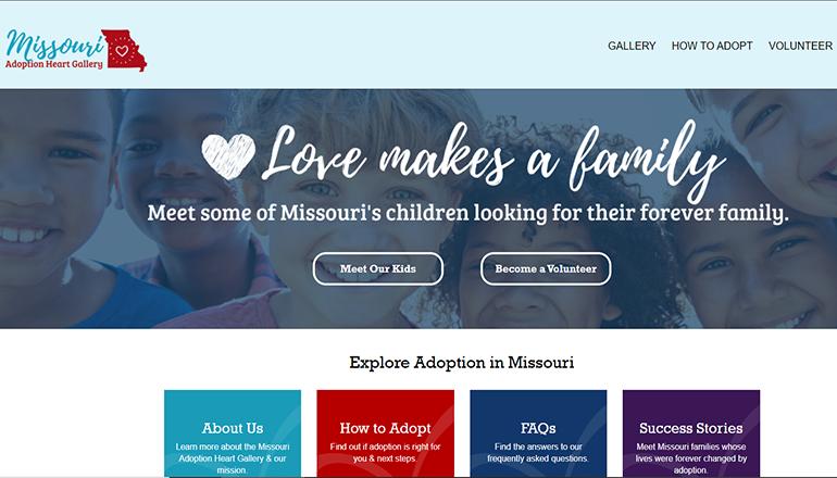 Missouri Adoption Heart Website