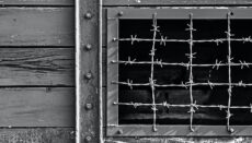 Shed with wire over Window (Nazi or German prison camp)
