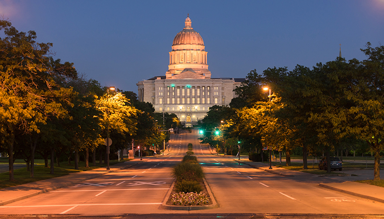 Street View Jefferson City Missouri State Capitol Building