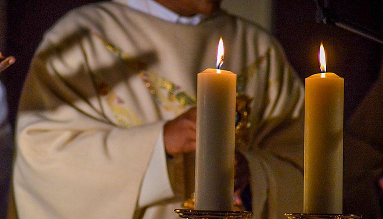 Catholic Mass or Christmas Mass or Priest