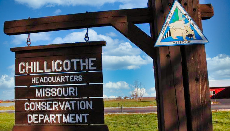 Chillicothe Department of Conservation Sign