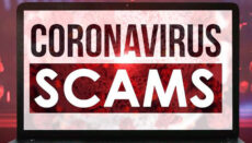 Coronavirus or COVID-19 Scams graphic