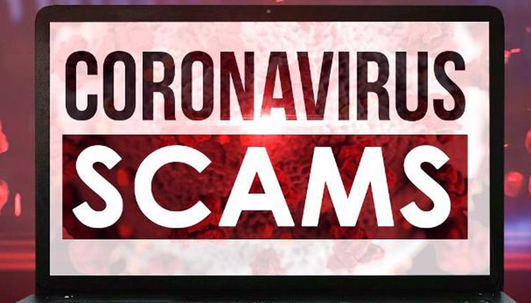 Coronavirus or COVID-19 Scams graphic