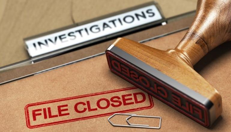 Investigation File Closed Graphic