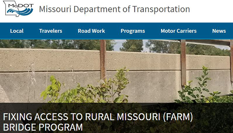 MoDOT Farm Bridge Project website
