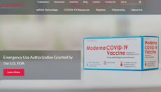 Moderna COVID-19 Vaccine website