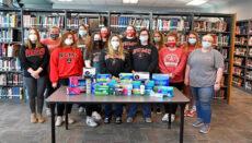 Phi Mu Epsilon donate to Green Hills Womens Shelter