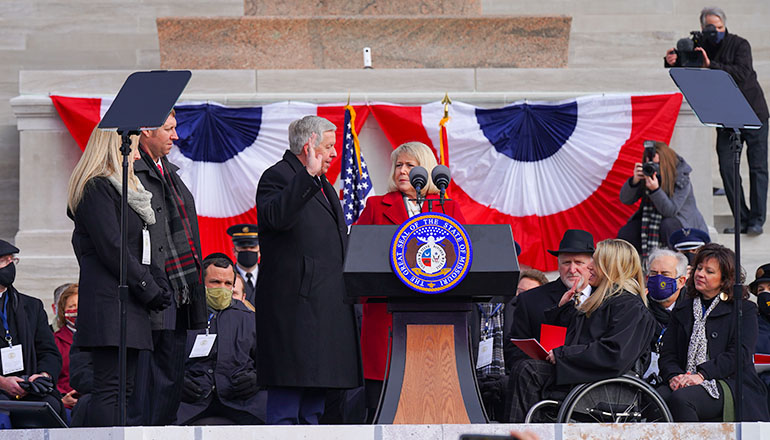 Mike Parson Sworn in as Missouri's 57th Governor