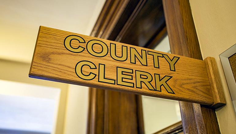 County Clerk Sign