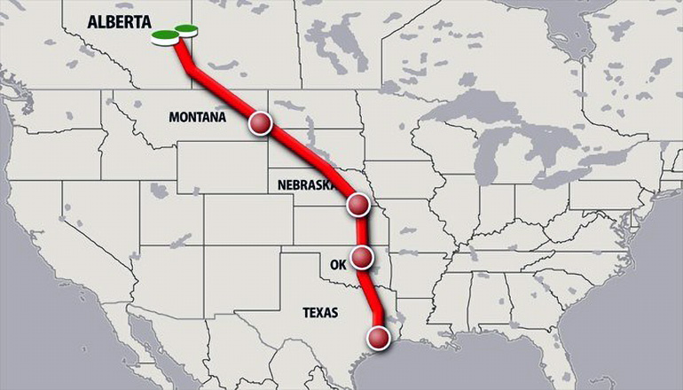Keystone Pipeline Project map of route