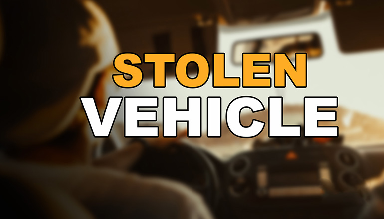 Stolen Vehicle News Graphic
