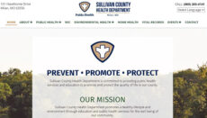 Sullivan County Health Department website