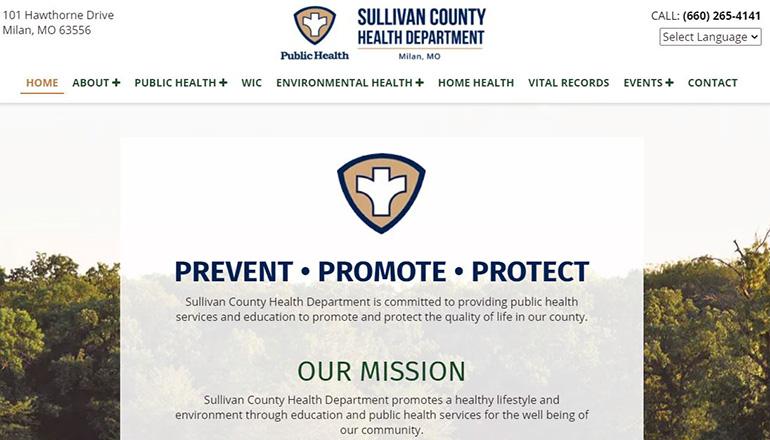 Sullivan County Health Department website