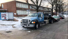Vehicle blocks Chillicothe school lane