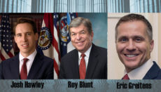 Composite of Josh Hawley - Roy Blunt and - Eric Greitens