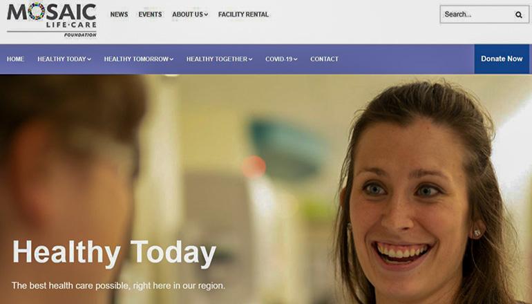 Mosaic Life Care Foundation Website