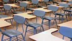 School Classroom with desks