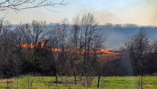 Field Fire on Onyx Lane Trenton