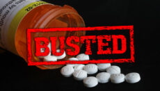Illegal drugs with Busted (pills opioid smuggle narcotic)