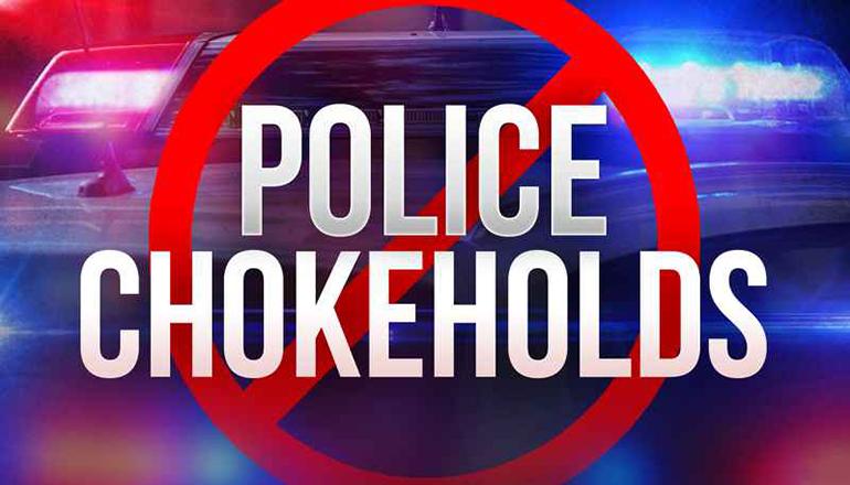 Police Chokeholds news graphic