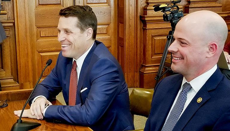 Attorney Todd Graves, left, and state Sen. Tony Luetkemeyer, R-P