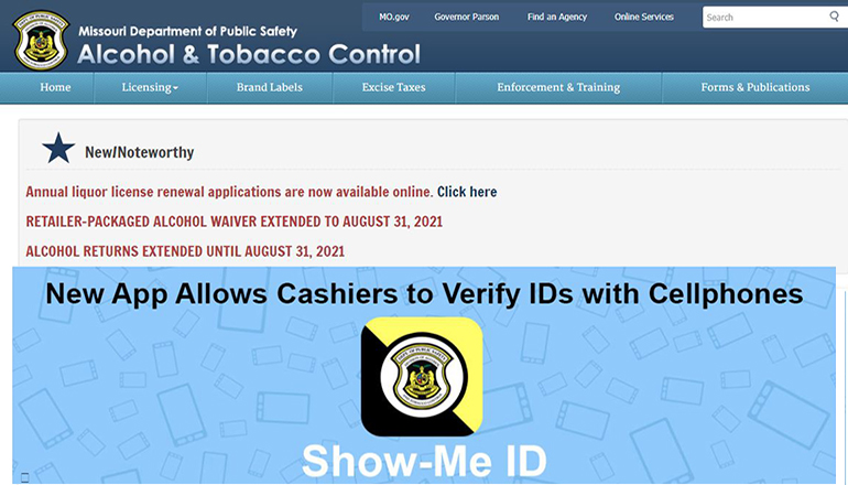 Missouri Division of Alcohol and Tobacco website