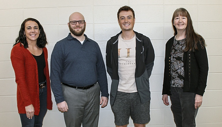 L to R: Traci Norris, Eric Christopherson, Zane Smith, and Dr. Susan Stull