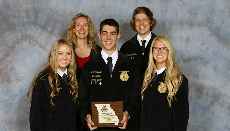 Chillicothe FFA agricultural sales team places third in state competition 2021