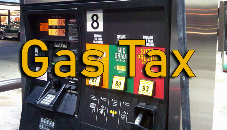 as pumps with gas tax text