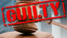 Guillty Verdict with gavel