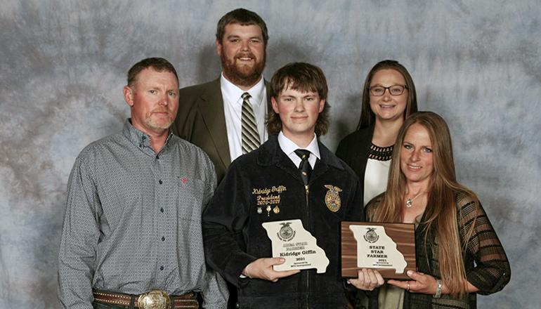 Kidridge Griffin of Trenton FFA Chapter named State Star Farmer