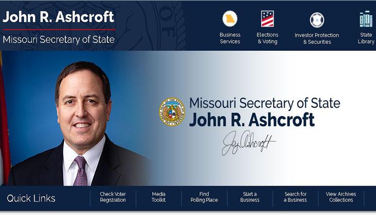 Missouri Secretary of State John Ashcroft website