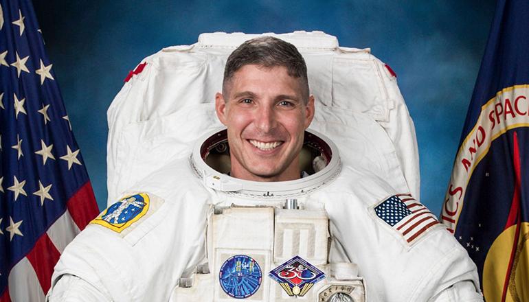 NASA SpaceX photo of Michael Hopkins
