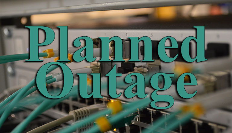 Planned internet outage