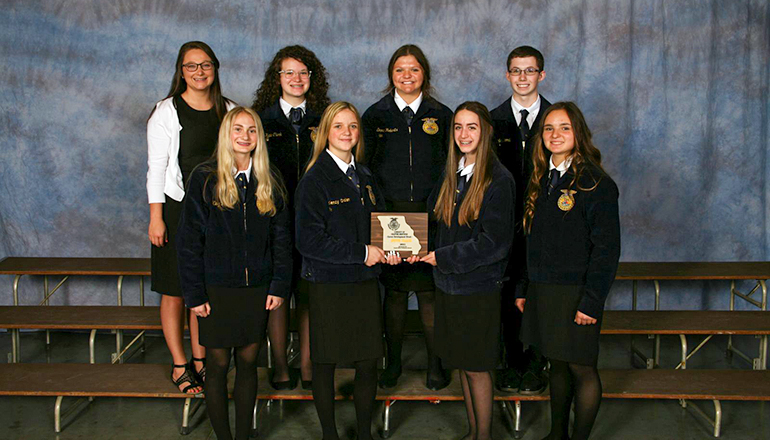 Trenton FFA Chapter 6th place award Chapter Conduct Meeting