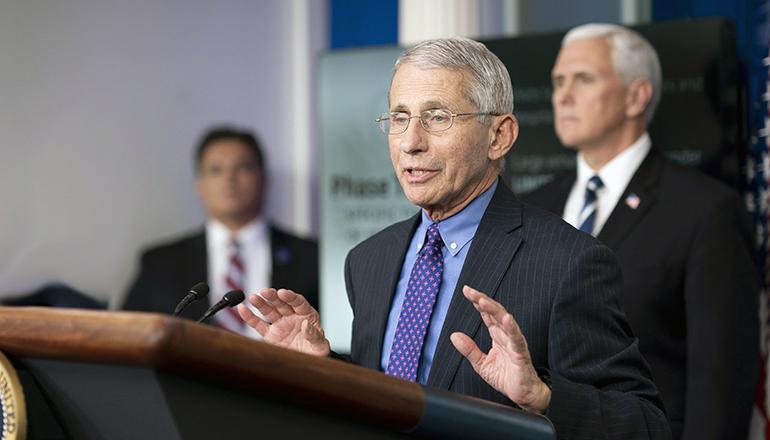 Anthony Fauci at White House (Photo courtesy of Wikipedia)