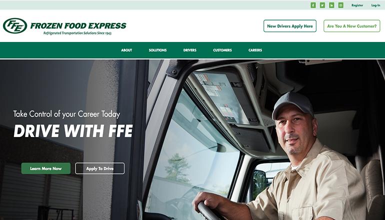 Frozen Food Express website