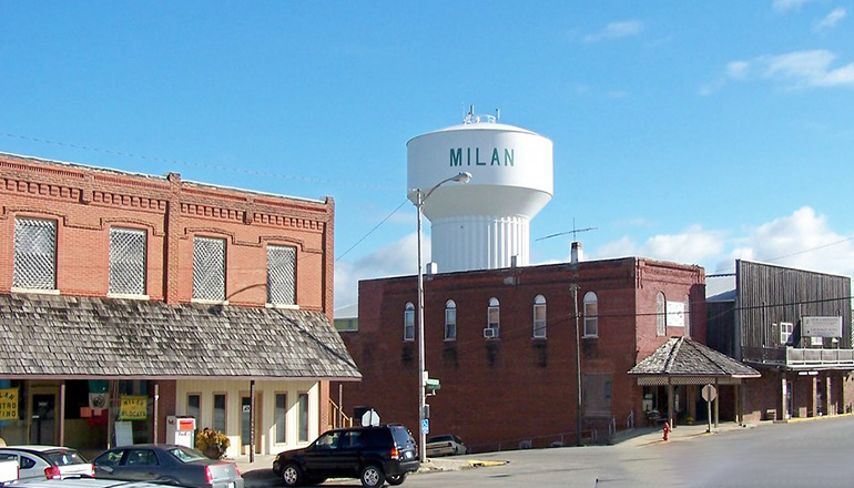 Milan, Missouri Downtown