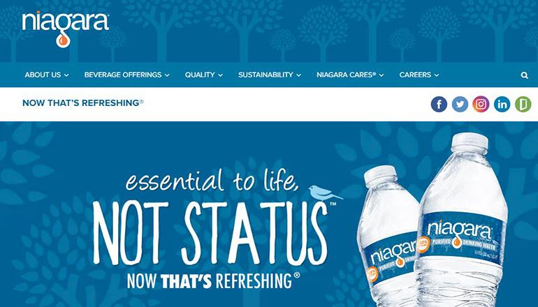 Niagra Bottling website