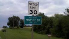 Novinger Sign