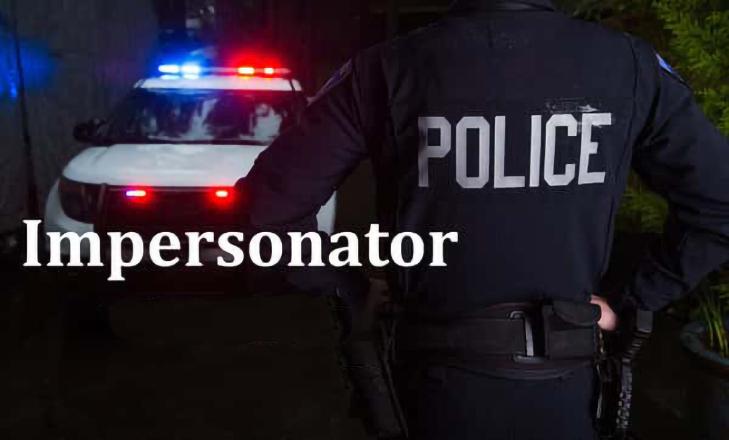 Police Impersonator Graphic