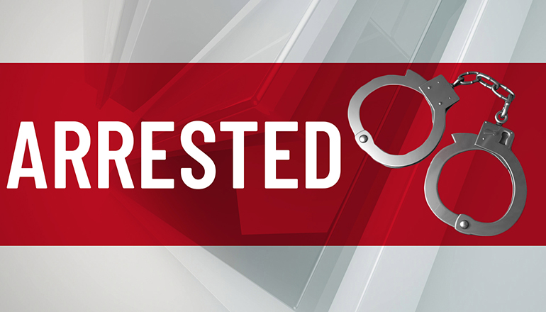 Arrested News Graphic