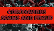 Coronavirus or COVID-19 Scams and Fraud Graphic