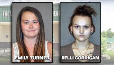 Emily Turner and Kelli Corrigan Booking Photo Via Trenton Police Department