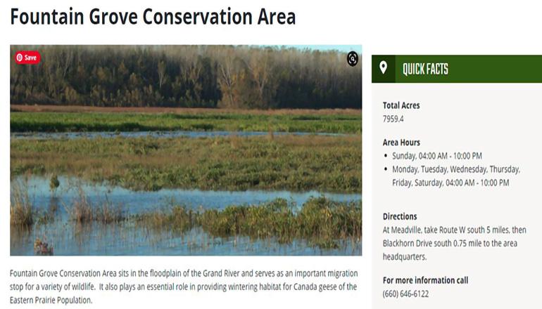 Fountain Grove Conservation Area