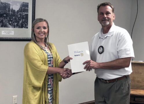 Megan Taul welcomed as new Rotary member