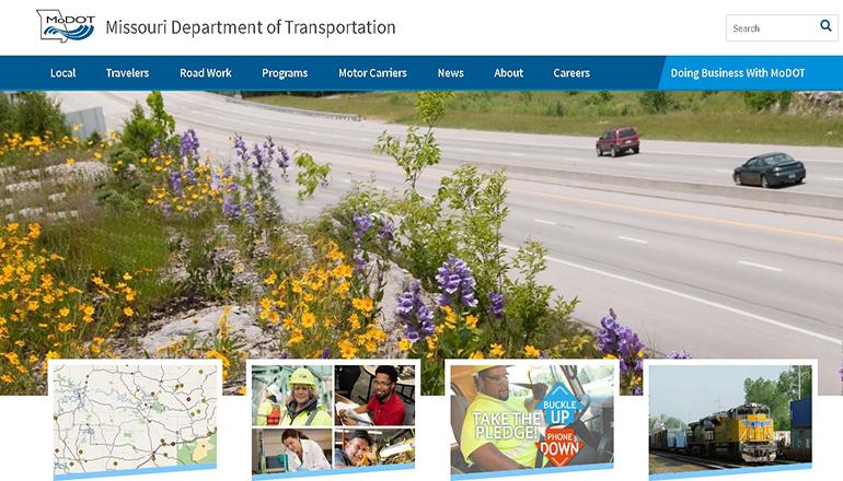 Missouri Department of Transportation website