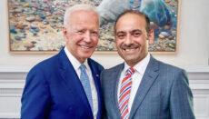 President Biden and Dilawar Syed Social Media photo